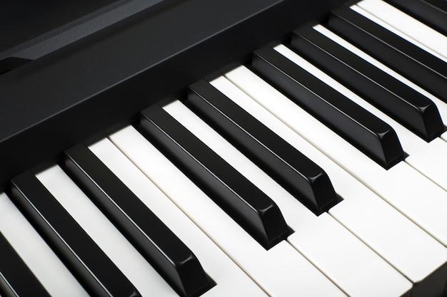 Fragment einiger elektronischer klaviertastatur