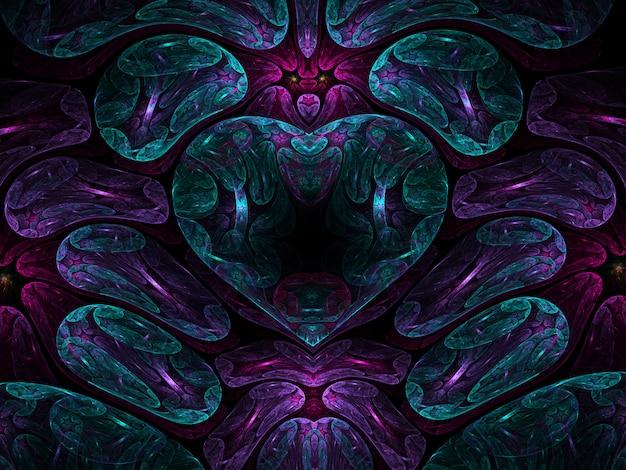 Fraktale auf schwarzem hintergrund