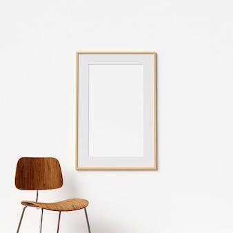 Frame Mockup Interior mit Stuhl Dekoration