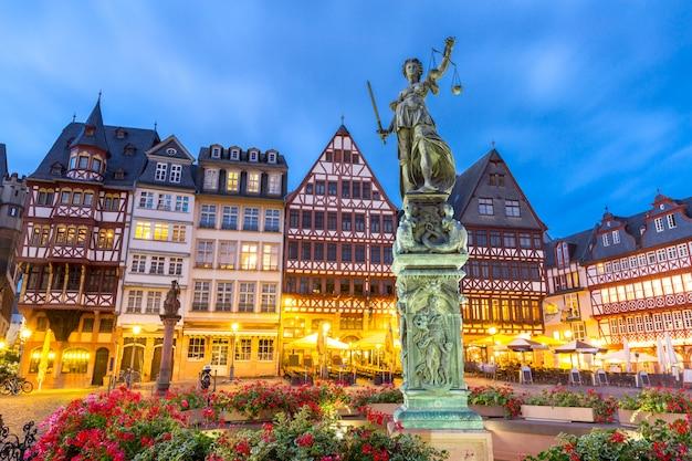 Frankfurter altstadt sonnenuntergang