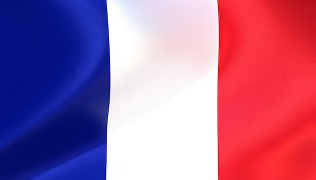 Frankreich flagge rendern mit textur