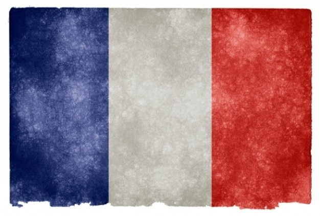 Frankreich grunge flag