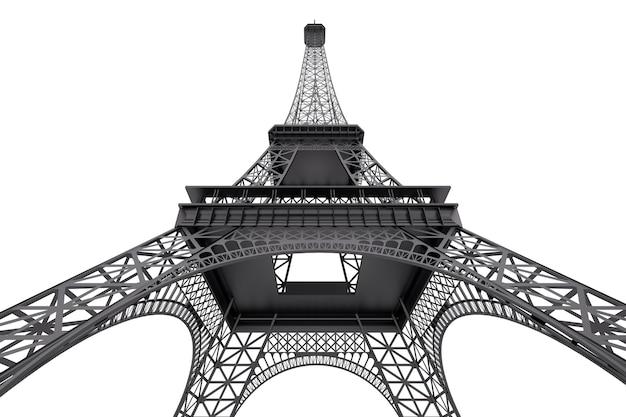 Frankreich-konzept. paris-eiffelturm auf weißem hintergrund. 3d-rendering