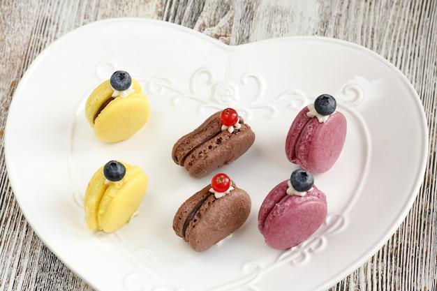 Französisch macarons. baiser