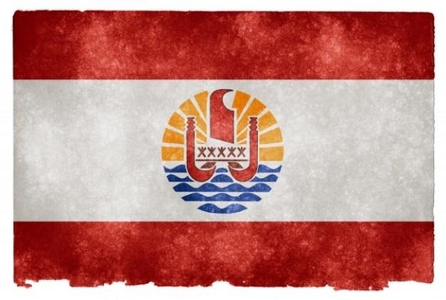 Französisch-polynesien grunge flag