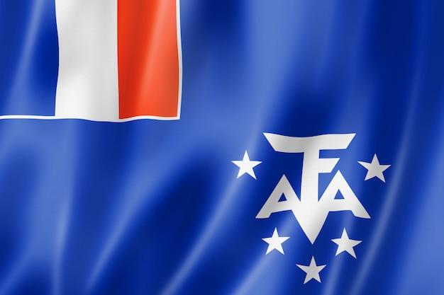 Französische flagge der südlichen und antarktischen länder, überseegebiete frankreichs