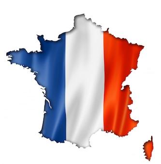 Französische flagge karte