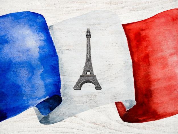 Französische flagge. nahansicht