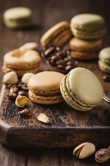Französische kaffee macarons