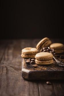 Französische kaffeemacarons
