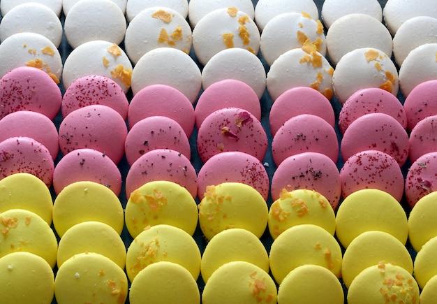 Französische macaron-gebäckkekse (macarons)