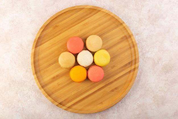 Französische macarons von oben