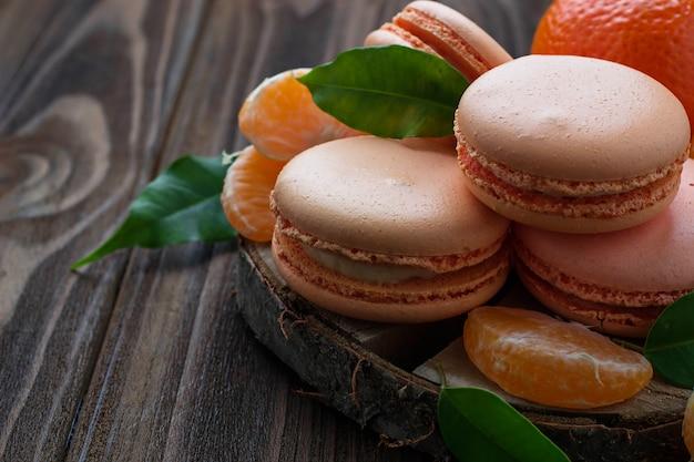 Französische makronen mit mandarine