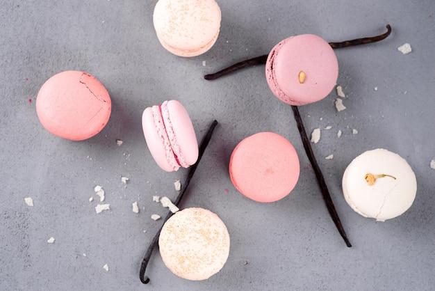 Französische pastell-macarons