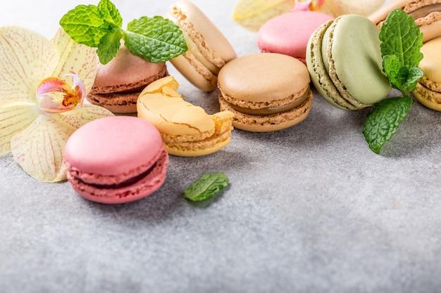 Französische sortierte macarons