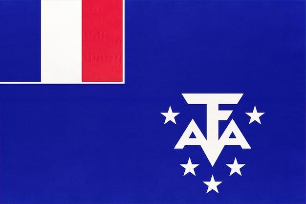Französische süd- und antarktisgebiete. taaf offizielle flagge.
