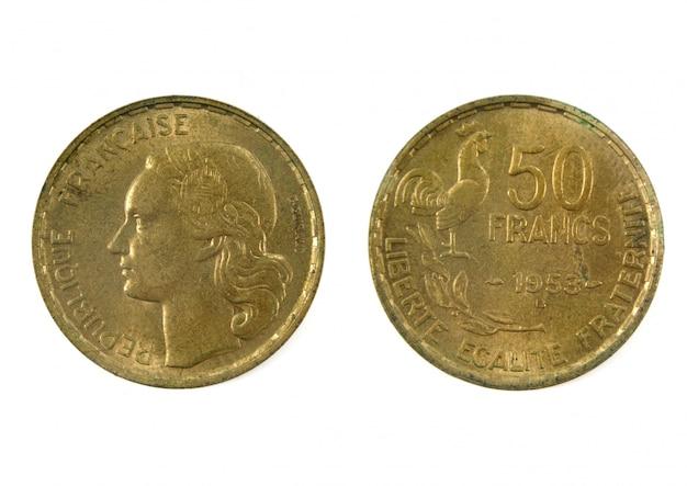 Französische währung des zwanzigsten jahrhunderts 50 francs 1953