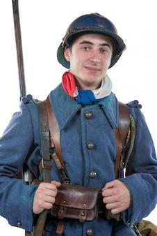 Französischer soldat 1914 1918 isoliert