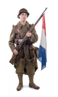 Französischer soldat 1940 isoliert