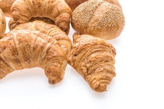 Französisches butterhörnchenbrot und -bäckerei