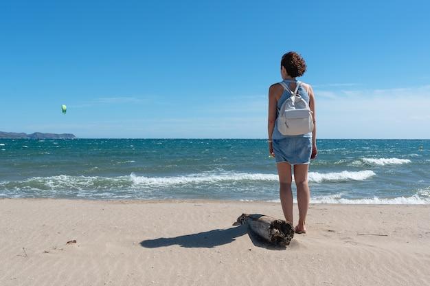 Frau am strandporträt