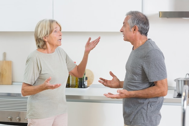 Frau, die mit ihrem ehemann streitet