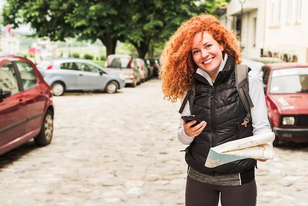 Frau, die um die welt reist