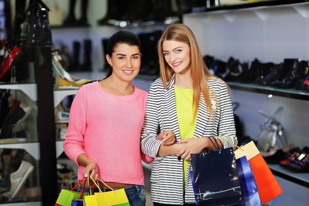 Frau einkaufen