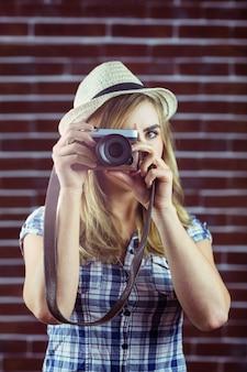Frau fotografieren