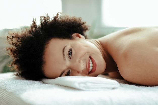 Frau im spa