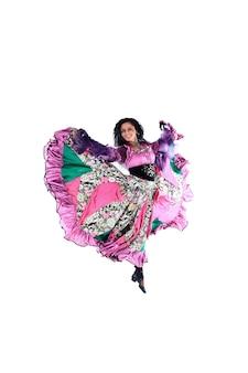 Frau im zigeunerkleid