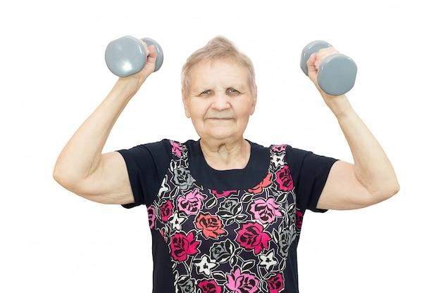 Frau in fitness engagiert