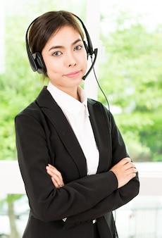 Frau kundenanrufservice