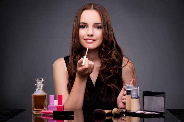 Frau make-up zu tun