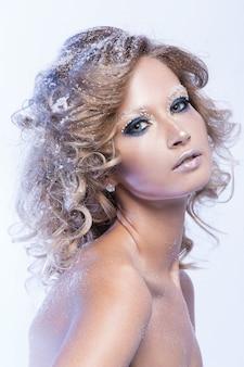 Frau mit schönen make-up