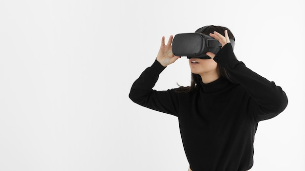 Frau mit virtual-reality-headset