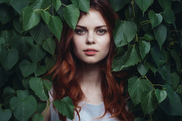 Frau pflanzt natur, schönheit