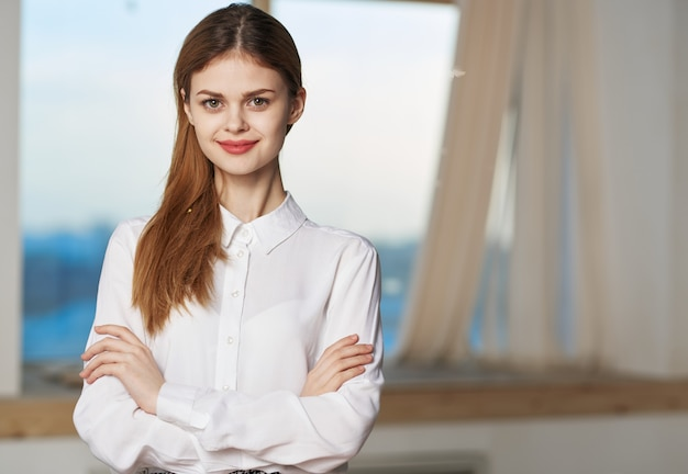 Frau sekretärin professionelle manager büroarbeit lebensstil