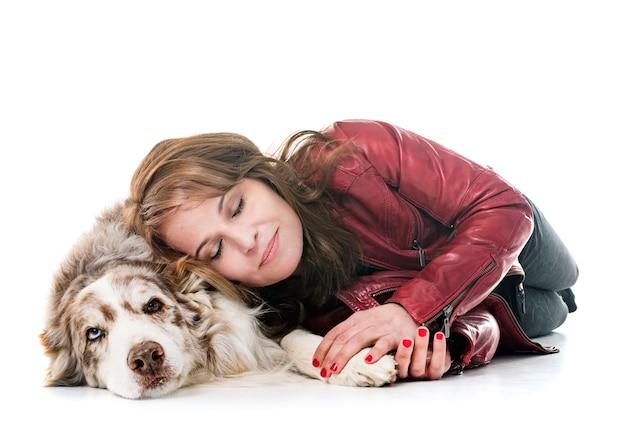 Frau und hund