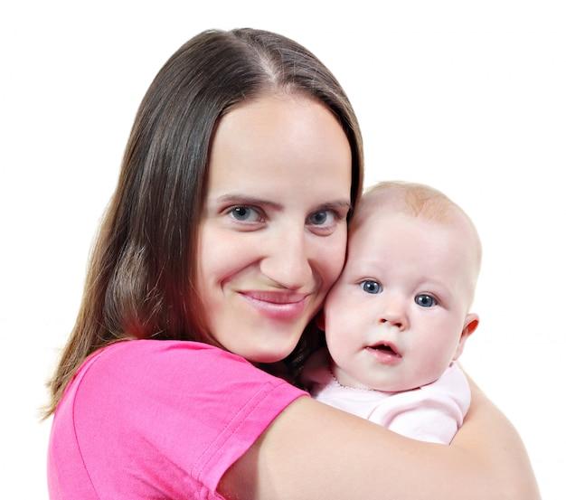 Frau und ihr baby