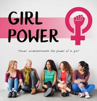 Frauen girl power feminismus chancengleichheit konzept