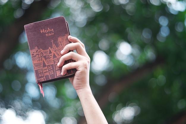 Frauen halten eine bibel.