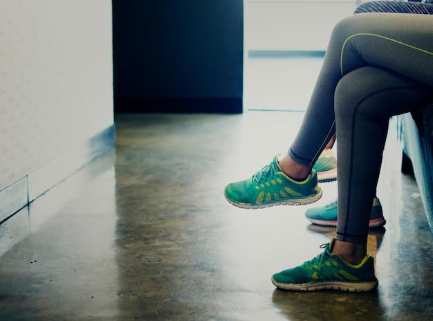 Frauen warten auf die fitness