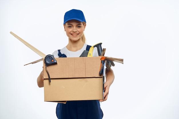 Frauenarbeitsformkasten mit werkzeuglieferungsladeservice