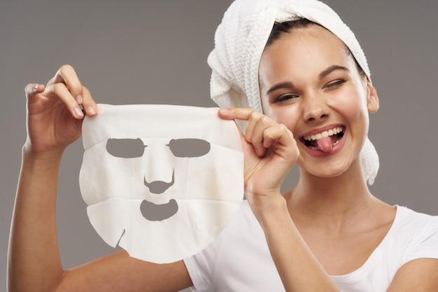 Frauengesichtspflege, masken und porträt