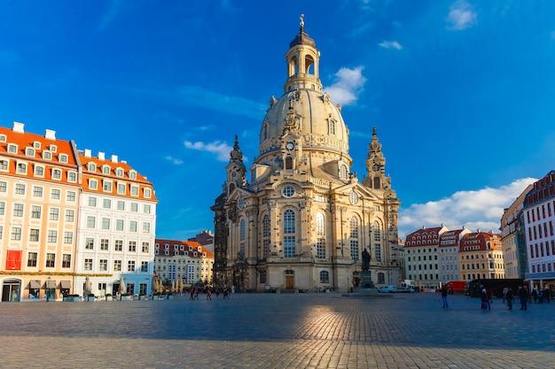 Frauenkirche am morgen, dresden, deutschland