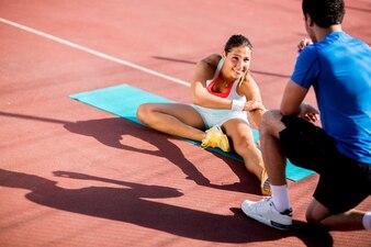 Frauentraining mit persönlichem Trainer