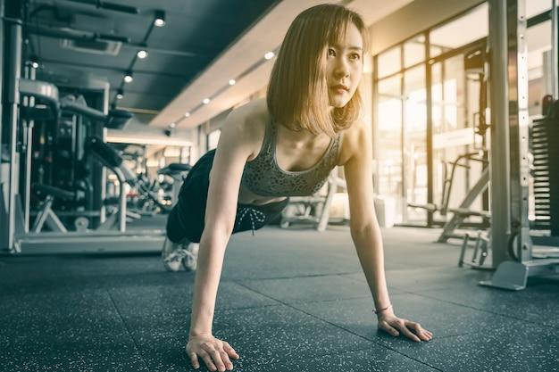 Frauenübung in der eignungsturnhalle