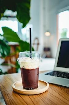 Freiraum innenansicht eines kaffees