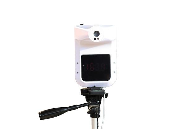 Freisprech-infrarot-thermometer-isolat auf weiß